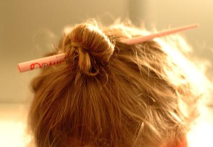 chopstick hair