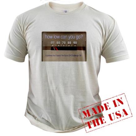 freezing t-shirt