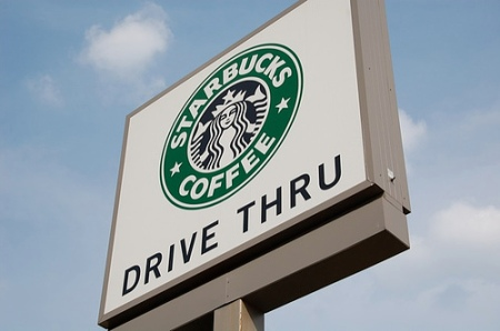 A drive-thru Starbucks (wrong + wrong ≠ right)