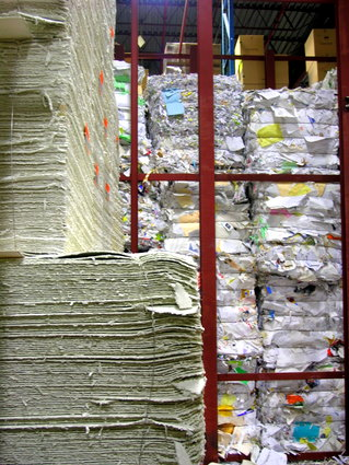 Where all the paper material gets sorted